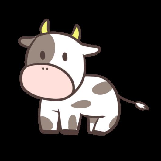 牛のかわいいイラスト(絵)3