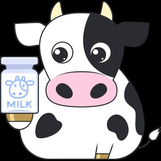 牛のかわいいイラスト(絵)2