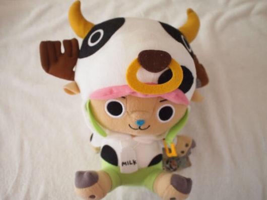 チョッパーの牛柄のかわいいぬいぐるみ