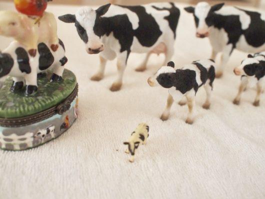 牛のかわいい置物(フィギュア)1