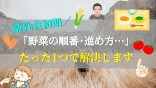 【まとめ:離乳食初期、1番ネックな野菜こそ楽をしよう【素材の味】