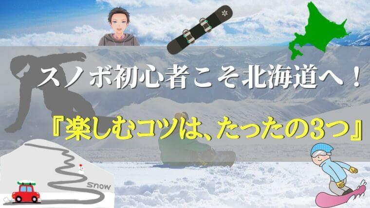 まとめ:スノボ初心者こそ、北海道の景色・雪質を楽しもう